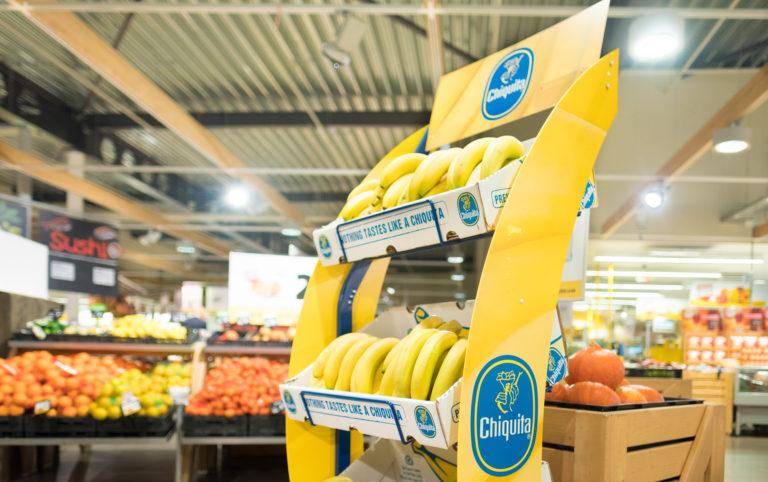 Winkeldisplay_Chiquita_Bananen_vloerdisplay